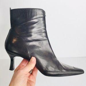 Donald J. Pliner chocolate Lindt point ankle boots